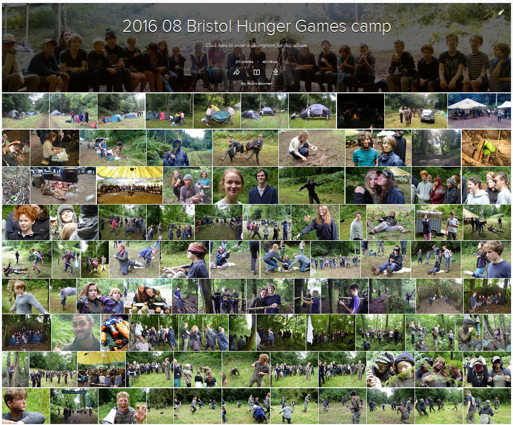 Hunger Games 2016 photo montage linking to Flickr